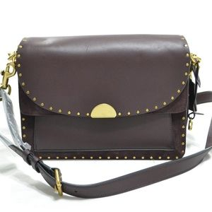 Coach Dreamer Oxblood Leather w/rivets Oxblood Bag